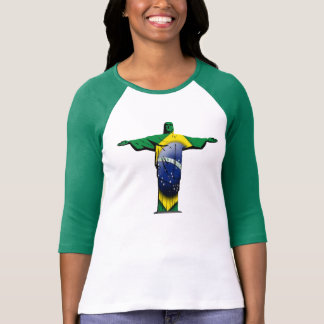Camiseta Cristo brasileiro da bandeira o redentor