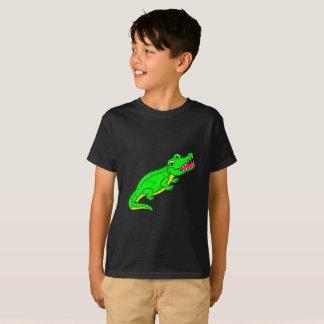 Camiseta Crocodilo bonito dos desenhos animados