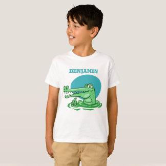 Camiseta crocodilo engraçado desenhos animados aprovados