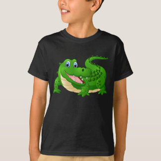 Camiseta Crocodilo feliz animado