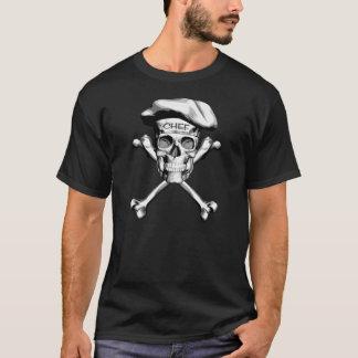 Camiseta Crossbones do crânio do cozinheiro chefe: Branco