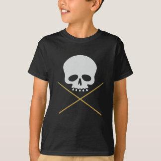 Camiseta Crossbones do crânio e do pilão