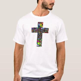Camiseta Cruz abstrata do cristo do Natal