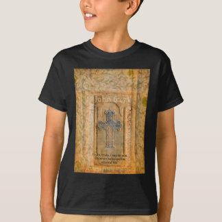 Camiseta Cruz bíblica cristã do renascimento das citações