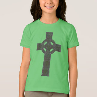 Camiseta Cruz de Knotwork do céltico com trevos