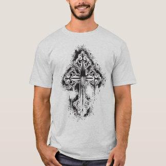 Camiseta Cruz do estêncil - personalizada