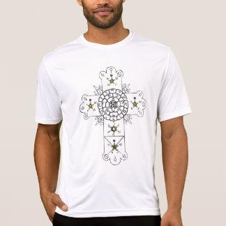 Camiseta Cruz do Velho Mundo (traseira + t-shirt da parte