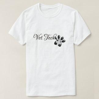 Camiseta Cruz e pata veterinárias da tecnologia do