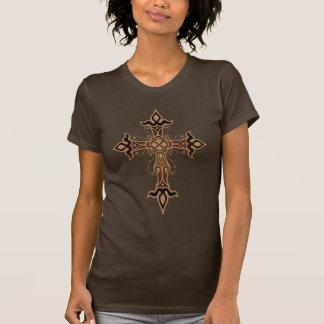 Camiseta Cruz gótico (marrom)