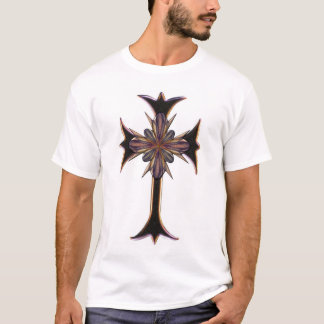 Camiseta Cruz ornamentado