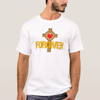 Camiseta Cruz perdoada do coração