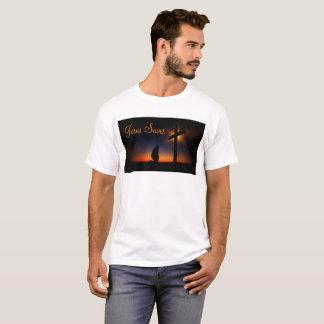 Camiseta Cruz santamente no por do sol (personalize)