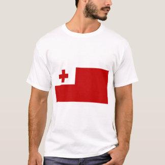 Camiseta Cruz vermelha da bandeira da ilha de Tonga