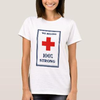 Camiseta Cruz vermelha -- Nós pertencemos 100% forte