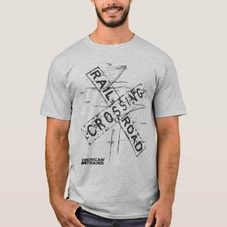 Camiseta CRUZAMENTO de ESTRADA DE FERRO por TRENS