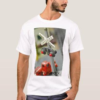 Camiseta Cruzamento de estrada de trilho, coletor do trem