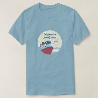 Camiseta Cruzeiro da família com navio de cruzeiros retro