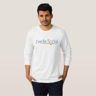 Camiseta CS branco básico da camisola
