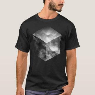 Camiseta Cubo cósmico - preto e branco