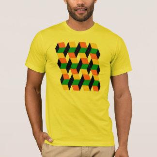 Camiseta cubos 3D
