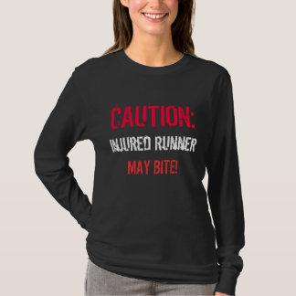 Camiseta CUIDADO: , o corredor ferido, PODE MORDER!