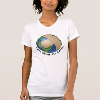 Camiseta Cuidado sobre a terra