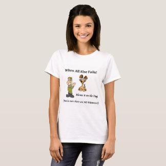Camiseta Culpa do t-shirt das mulheres o cão