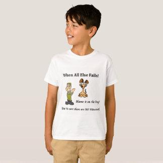 Camiseta Culpa do t-shirt do menino o cão