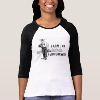 Camiseta Cultive o T do Raglan da vizinhança