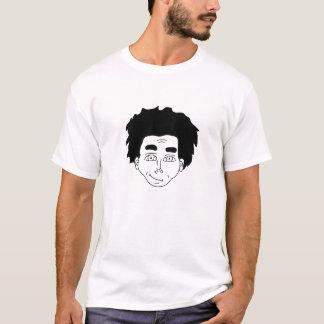 Camiseta Cultura preta com desenho handmade