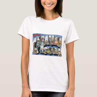 Camiseta Cumprimentos da ilha de Catalina, vintage
