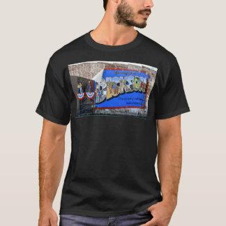Camiseta Cumprimentos da pintura mural do ~ de Dickson