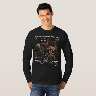 Camiseta Cumprimentos do Natal de Krampus