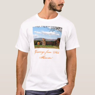 Camiseta Cumprimentos do t-shirt novo do hamster