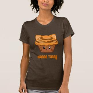 Camiseta Cupcake alaranjado do gato malhado
