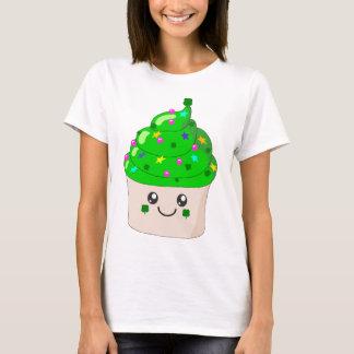 Camiseta Cupcake bonito do Dia de São Patrício verde do