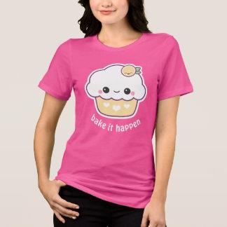 Camiseta Cupcake do limão de Kawaii