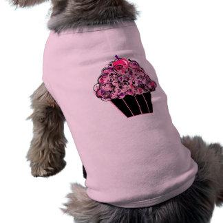 Camiseta Cupcake preto e cor-de-rosa