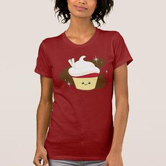 Camiseta Cupcake. vermelho de veludo