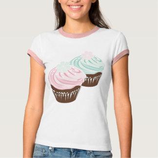 Camiseta Cupcakes bonitos do fosco do Pastel