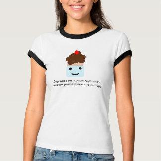 Camiseta Cupcakes para a consciência do autismo
