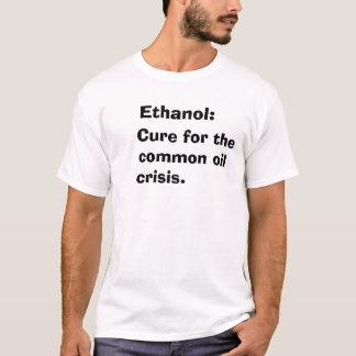 Camiseta Cura para a crise petrolífera comum., álcool