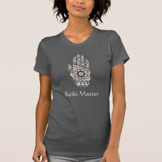 Camiseta Curandeiro da ioga & da energia do tatuagem da mão