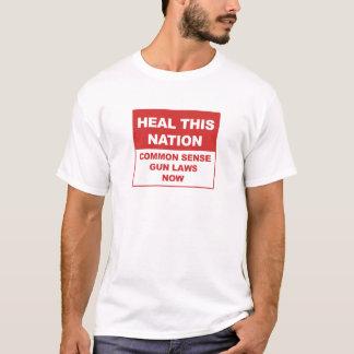 Camiseta Cure esta nação - leis da arma do senso comum
