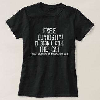 Camiseta Curiosidade e o gato