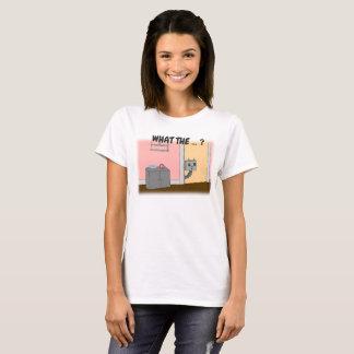 Camiseta Curioso, o Steampunk, gato do robô,