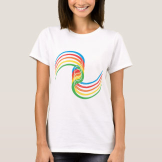 Camiseta Curvas da cor: Ilustração do vetor: