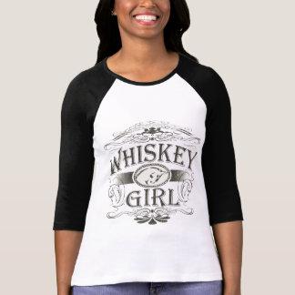 Camiseta Curvatura da menina do uísque