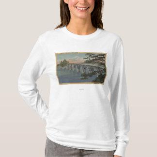 Camiseta Curvatura norte, Oregon - opinião da ponte da baía