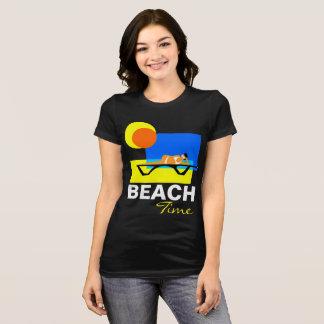 Camiseta Customizável engraçado do tempo da praia